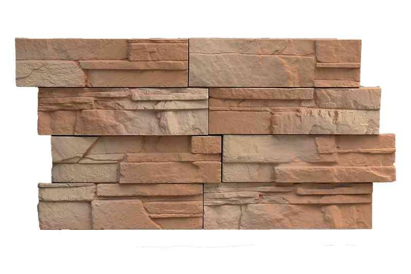 Kőburkolat hasított kő mintával